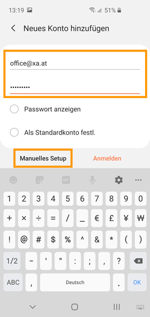 Android Email Passwort Auslesen